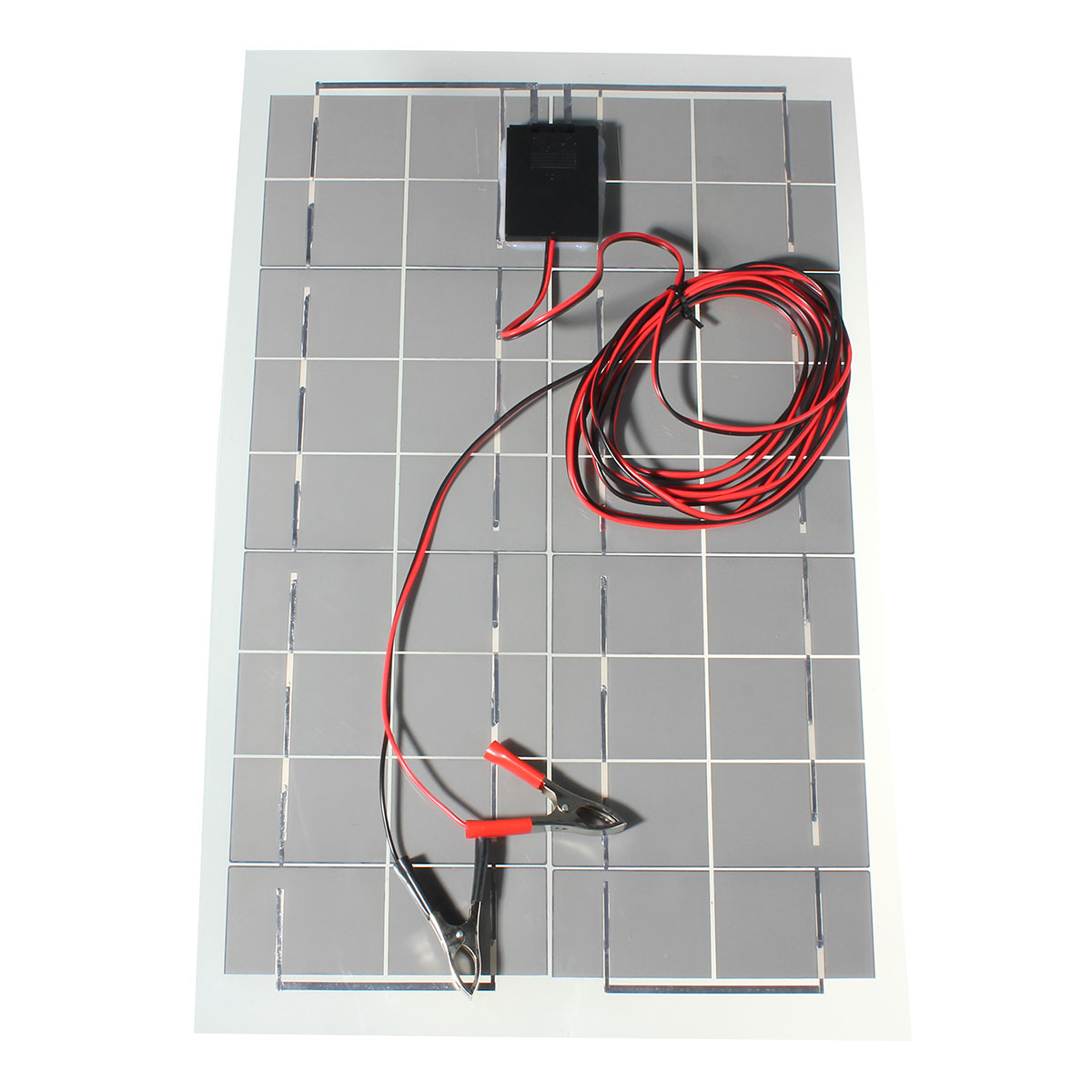 Newest Solor Power Polycrystalline Solar Cells Solar Panel Module Battery Charger with Alligator Clips + Cable 5W/10W/20W/30W<br>