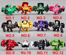Transformation Mini Cute Hunter Pocket Deformation 12 Colors Sets Action Figure Robot Boy Toys(China)