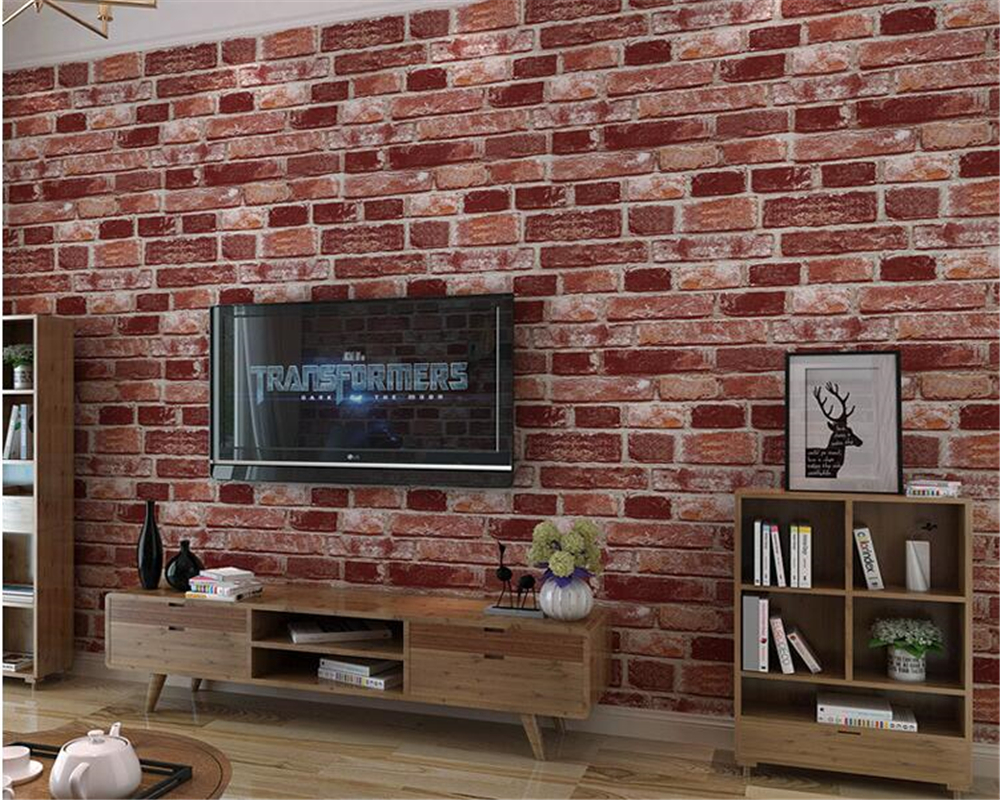 beibehang Retro to do the old brick pattern culture stone wallpaper barber shop clothing store hotel papel de parede wallpaper<br>