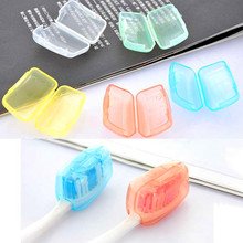 5PCS/lot Toothbrush Head Covers Travel Camping Protect Toothbrush Head Cleaner Case Box Holder Free Shipping(China)