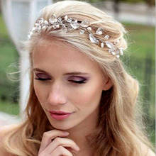 MHS.SUN fashon crystal pearls bridal hair band headbands rhinestone crowns tiaras for wedding hair accessories 1pc/lot TN062