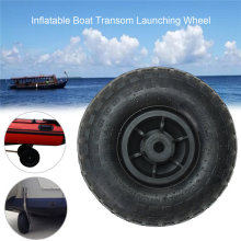 Newest Durable Inflatable Boat Transom Launching Wheel For Inflatable Dinghy Yacht Tender raft Boat Wheel Kayak Accessories(China)