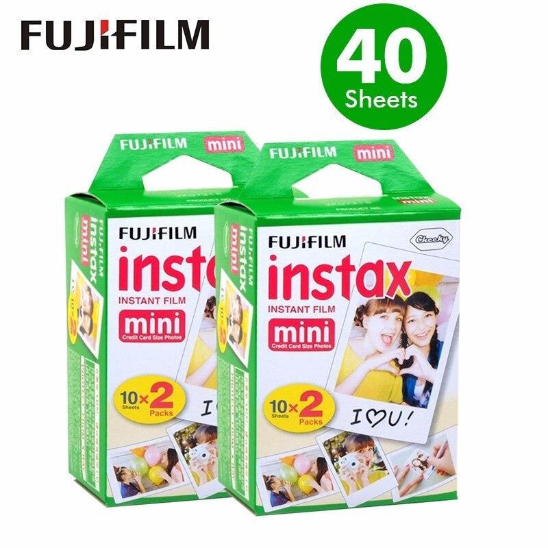 Original 40 sheets Fujifilm Instax mini 8 films white Edge 3 Inch for Instant Camera 7 9 25 50s 70 90 sp-1 sp-2 Photo paper<br>
