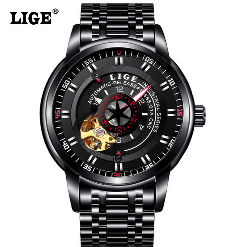 Top Brand Luxury Fashion Automatic Mechanical Watch Men Stainless steel Waterproof  Sport Wrist Watch Relojes Hombre<br>