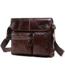 CROSS OX Genuine Wax Leather Messenger Bag SL395