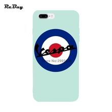 Vespa Logo for Iphone Cases 6/6s/6s plus/6plus Anti-Knock Soft TPU for Iphone 7/7plus Case Protect Back Covers for Iphone 7