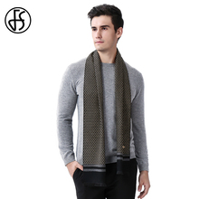 FS Newest Brand Bee Print Cashmere Scarf Men 2017 High Fashion Designer Wool Scarves Business Long Shawl Soft Knit Winter Wrap S(China)