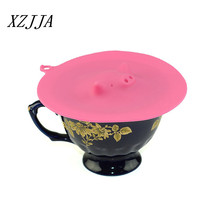 Food Grade Silicone Glass Cup Cover Coffee Mug Lid Cap Cute Pig Dustproof Cover Thermal Insulation Cover Seal Cover 13cm