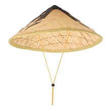 2018 Handmade Del Tessuto Cappello di Paglia di Stile Cinese Di Bambù  Rattan Cappelli Steeple Retrò Turismo Pioggia Cappellini P.. 255377a1f22f
