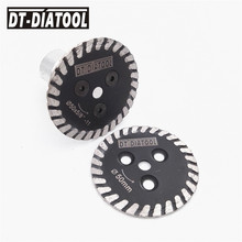 DT-DIATOOL 2pcs Hot pressed mini diamond saw blade one removable 5/8-11 long flange cutting disc carving stone marble concrete
