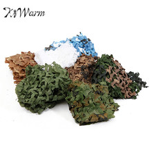 KiWarm 1x1m Hunting Camping Outdoor Jungle Desert Woodlands Army Military Camouflage Camo Net Games Hide Camouflage Mesh Net(China)