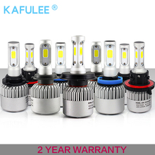 GZ kafolee h7 h4 h1 h3 h8 h9 h10 h11 9005 9006 9012 hb3 hb4 S2 Auto Car Headlight 72W 8000LM S2 automobiles lamp car led bulb(China)