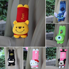 quality 1 Pair cute Cartoon Car Sefety Seat Belt cover Child Seat belt Shoulder Pads Protection Plush Padding Auto Accessories