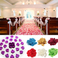 New 100pcs/lot Rose Flower Petals Leaves Silk Wedding Decorations Party Festival Table Confetti Decor(China)