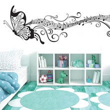 Selling Foreign Trade Models Black Butterfly Flying Wall Stickers Can Be Moved PVC Transparent Film Wallpaper(China)