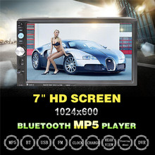 7023D 2DIN 7inch Bluetooth HD Car MP5 Player Reader Radio Fast Charge with Camera Car Stereo Audio MP5 Player