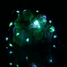 Mising Four Leaf Clovers 2M 18 LED String Light Christmas Battery Operated Silver String Fairy Light Wedding Party Decor Lamp(China)