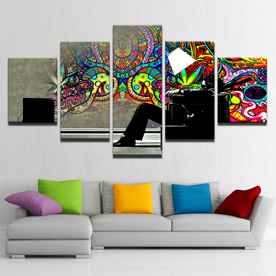 Psychedelic Abstract Graffiti Paintings