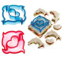 1 piece 10 Shaps Dinosaur Dog Butterfly Shaped Bread Sandwich Cutters Mold Cake Baking Mould Toast Moulds Cake Maker