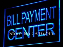 i917 Bill Payment Center Lure Adv Ad Shop Light Sign On/Off Switch 7 Colors 4 Sizes(China)