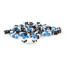 UXCELL 55Pcs 6 Pin Square 7Mmx7mm Latching Dpdt Mini Push Button Switch contact | momentary