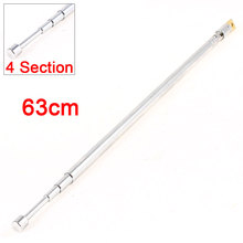 UXCELL Product Name 63Cm 4 Section Telescopic Antenna Aerial For Tv Rc Controller Fm Am Radio aerial | antenna(China)