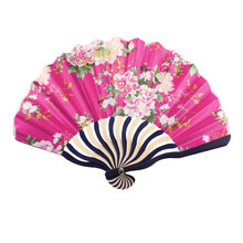 Uxcell Summer Japanese Style Floral Pattern Bamboo Rib Portable Foldable Hand Held Fan Fans Art Decor . | china | flower | pink