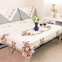 1 Piece Elegant Table Cloth/Exquisite Embroidery Fabric Art Tablecloth/ Modern Rural Style Round Tablecloth  25