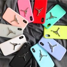 3D Air Jordan TPU Rubber Case iPhone 7 7Plus 6 6s 6Plus X AJ jumpman23 Back Cover Phone Cases iPhone 8 Plus 3d case