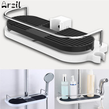 ABS Bathroom Shampoo holder for Show Shelf Shower Storage Bath Caddy Rack Pole Shelf Shower Storage Organizer Tray Holder(China)
