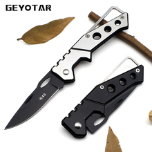 Mini Portable Knife Fold Camping Tactical Folding Pocket Ring Outdoor Tools Hunting Edc Stainless Key 2017 Survival Real Rushed(China)
