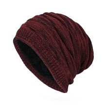 Winter Men Women Beanies Solid Color Unisex Plain Warm Knitting Slouchy Cap Hat(China)