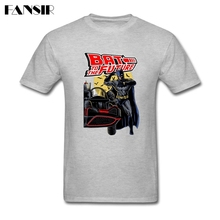 Men T Shirts  Popular White Short Sleeve Custom Tees Shirt Men's Batman Back To The Future Group Clothes Tops