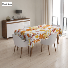 Kitchen Table Cloth Swirling Fall Leaves Decorations Season Elements Aesthetic Nature Yellow Orange 145x120 cm / 145x180 cm