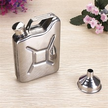 5oz Stainless Steel Hip Flask Can Liquor Whisky Bottle With Funnel Portable Bar Whisky Drinkware Alcohol Bottle Outdoor Gift(China)