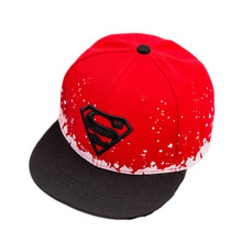 2017 New Superman The Boys Cap hip-hop cap snapback hat 3-10 years old boys and girls flat-brimmed hat gorras 4 colors(China)