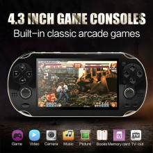 4.3 Inch 8GB Handheld Game Consolebuild in 1200+no-repeat games Video Game Console Support FC/NES/SNES/GB/GBC/GBA/SMC/SMD/S()