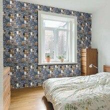2018 Selbstklebende Tapete PVC Wasserdichte Stein Tapeten Mauer Papier  Dekorative Wandaufkleber Schlafzimmer Wohnkultur