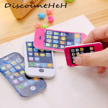 New Shape Phone Eraser Children Gift Sweet Stationery Office School Supplies Random Color