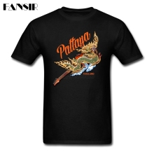 Pattaya Dragon Men T Shirts Screen Printing Shirts Men Male Custom Cotton Short Sleeve Big Size Brand Clothing For Family