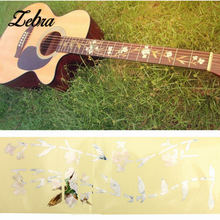 Zebra 1pcs Fretboard Marker DIY Fret Guitar Bass Inlay Sticker Decal Flower Plant For 19-24 Frets Acoustic Electric Guitar Part(China)