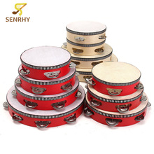 SENRHY 6/7/8/10 inch Educational Toy Musical Tambourine Beat Instrument Hand Drum For Children Kids Learn Sense of Rythm Gift(China)