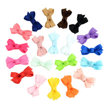 20Pcs/Set Solid fashion Sweet girl ribbon mini hair clip pin accessories for Hairpins Kids Ribbon Hairgrips Hair Accessories 737(China)