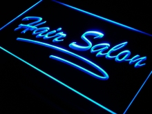i561 Hair Salon Script Cut OPEN LED Neon Light Sign On/Off Switch 7 Colors 4 Sizes