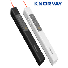 Knorvay 2.4GHz Wireless Presenter Remote Powerpoint Presenter Presentation Clicker PPT Pointer Laser Pen with USB Plug(China)