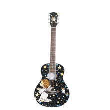36 inch folk guitar personality patterns cartoon guitar Basswood Body Rosewood for Beginner music Instruments(China)