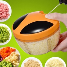 Hand-pull Mini Hachoir Garlic Ginger Chili Masher Potato Grinder Mincing Machine Meat Vegetable Baby Dumpling Chopper(China)