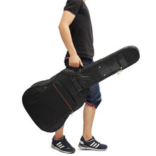 Canvas Padded Bass Guitar Bag Backpack Guitar Case Cover With Double Shoulder Straps for 38/39/40/41 Inch Ukulele Parts(China)