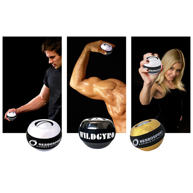 Gyroscope Ball No Wrist Light Power Ball Arm Muscle Relax Exerciser Fortifying Rotor Gym Hand Exerciser Gyro Ball (3)