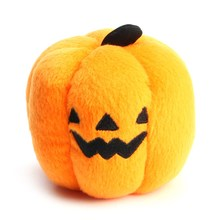 Pumpkin Dog Toy Lightly Sounded Chew Toys Pets Orange Lovely Small Interactive For Cats Dogs Giochi Products Supplies(China)